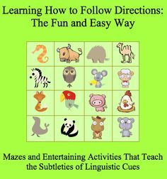 Learning Specialist and Teacher Materials - Good Sensory Learning: Mastering Tricky Wording: Free Follow Directions S...