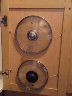 DIY Ideas para ordenar las tapas en la cocina.