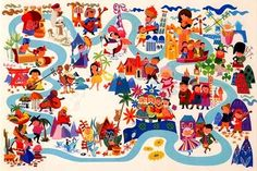 mary blair.  hands down.  forever.  j'adore her brite colors, effortless shapes, and terrific vision of character and fantasy.