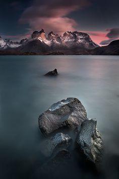 Los Cuernos del Paine, Torres del Paine National Park, Chile.