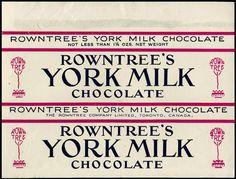 Canada - Rowntree - York Milk chocolate candy bar wrapper - 1960's 1970's by JasonLiebig, via Flickr