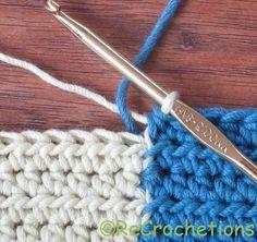 Reversible Intarsia: Half Double Crochet - Tutorial  ❥ 4U // hf