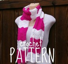Scarf Crochet Pattern PDF Summer Wave Chevron by CandacesCloset