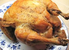 """Marcella Hazan's """"Roast Chicken with Lemons"""" from her book, Essentials of Classic Italian Cooking"""