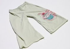 recycled T-shirt toddler pants. This is so clever! See the tutorial.