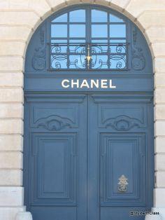 Chanel - Paris blue door 000 the doors, coco chanel, fashion, blue doors, pari, knock knock, entrance doors, place, cocochanel