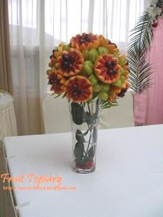 Fruit Carving - Vegetable Carving - Fruit Carving Arrangements and Food Garnishes: Fruit and Vegetable Topiary