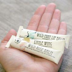 3 Herbal Lip Balms - organic herbal moisturizers- in eco friendly tubes