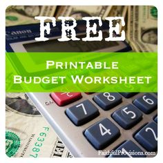 Free Printable Budget Worksheet via FaithfulProvisions.com