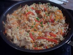 Asian Pork/Chicken and Noodle Skillet.  Pampered Chef recipe.