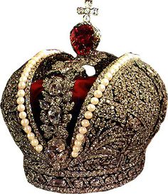 The Great Imperial Crown of Catherine the Great  weighing approximately 5 pounds. The crown is adorned with 4,936 diamonds .