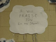 """Storm Clouds Craft - great for """"Jesus Calms the Storm"""""""