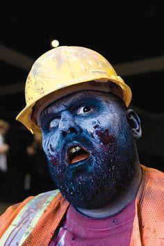 zombi makeup, zombi construct, build brick, zombi zoo