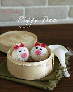 Amigurumi   Piggy Bun Pattern   Free Pattern & Tutorial at CraftPassion.com