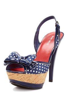 Polka Dot Bow Sandals