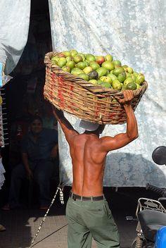mangoes at the market, Nicaragua.