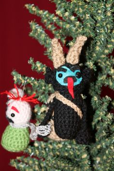 Krampus Ornament with naughty children!