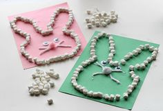 Marshmallow easter bunny craft for kids