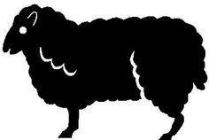 lamb, stencil