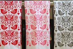 bird tea towel single towel by dutchdoor on Etsy, $12.00