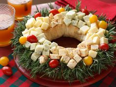 christmas wreaths, food recip, chees, christmas appetizers, christma food, holidays, appet idea, christma appet, parti