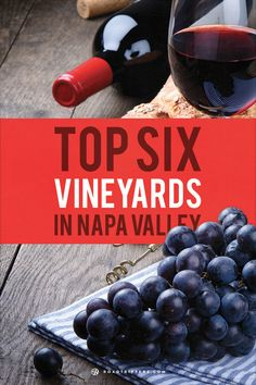 Visit the Top 6 vineyards in Napa Valley.