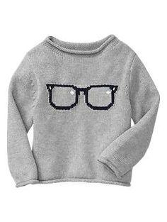 Intarsia glasses sweater | Gap