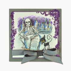 Rain Puddles Design: Stampendous and it's skeletons
