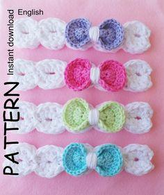 CROCHET HEADBAND Pattern, BABYS headband pattern, Girls headband pattern, 8 sizes, Download pattern, Pdf, Baby girl headband, Bow headband.