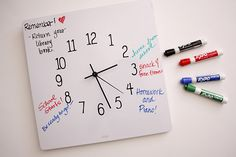 DIY Dry Erase Clock