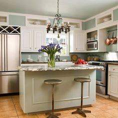 wall colors, wine racks, kitchen idea, small kitchens, stool, cubbi, white cabinets, kitchen islands, countertop