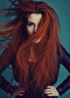 Long, bold, beautiful, hair! hair colors, ginger, red hair, photography poses, beauti, hairstyl, redheads, redhair, crimp hair
