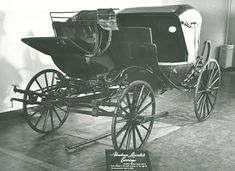 The carriage that took the Lincolns to Ford's Theatre on the night of April 14, 1865.