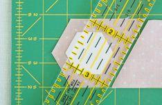 cutting fabric hexagonstutorial - Pretty by Hand -
