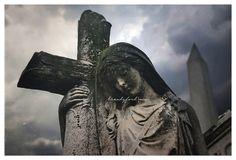 Angel Headstone sad dramatic emotional by BitsofLifeImages on Etsy, $30.00