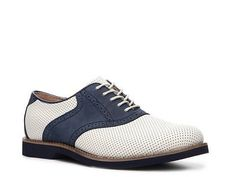 Two-Tone Suede Saddle Shoe