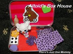 Altoids Tin squinkies house. for B