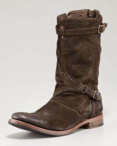 Studded Buckle Boot by John Varvatos at Neiman Marcus.