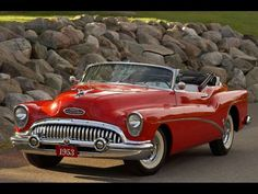 A fantastic cherry red 1953 Buick Skylark Convertible. #vintage #1950s #cars