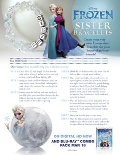 Bring a little #Frozen into your home with these Frozen sister bracelets!