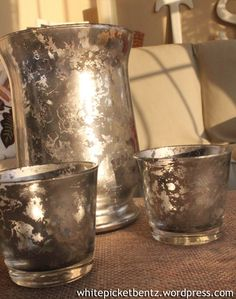 Country French Chic inspired DIY projects: Mercury glass decor