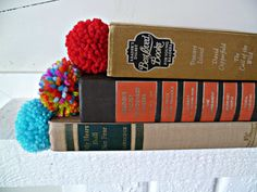 Pom Pom Bookmark. $3.75, via Etsy.