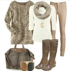 Fall fashion and brown but cute!!