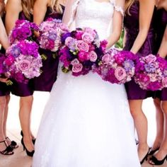 Beautiful colors and flowers!/bridesmaid dresses...