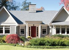 Add style to your home with a red front door from Pella. #red door