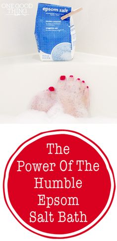 The Power Of The Humble Epsom Salt Bath! It's not just for sore muscles and constipation anymore!   One Good Thing By Jillee