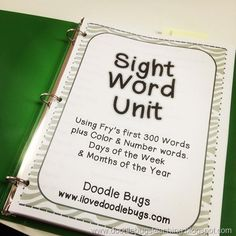 Sight Word Unit