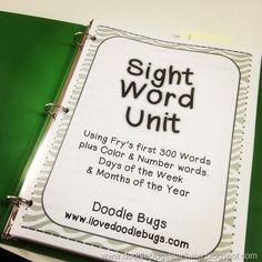 Sight Word Unit