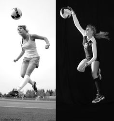 senior portraits with soccer ball - Google Search