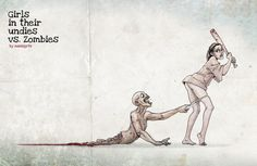 girl, stuff, zombi apocalyps, art, live dead, undi, babe, illustr, zombies